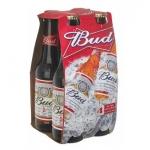 Bud Μπύρα Φιάλη 4x300 ml